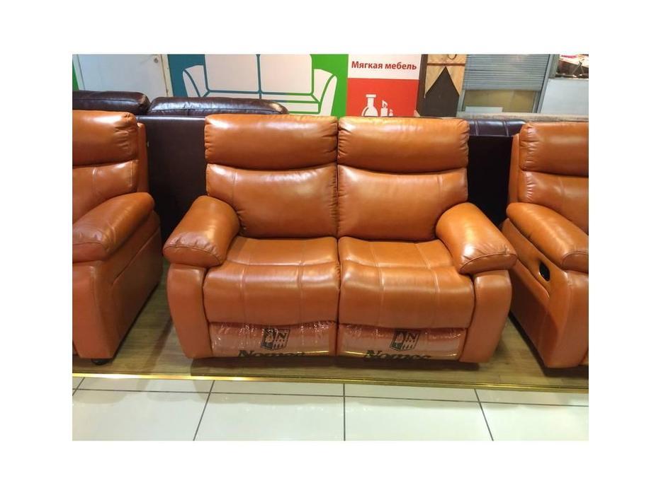Nomec: ЕА102: диван 2-х местный  (кожа 9209, черный)