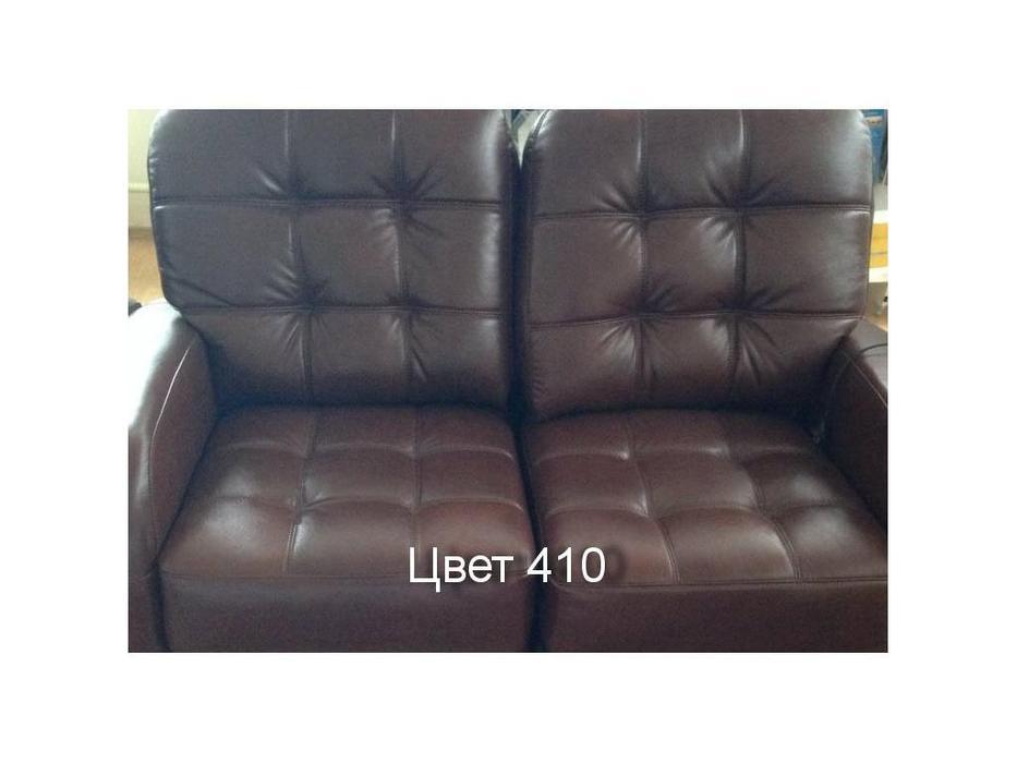 Nomec: K603: кресло электрореклайнер кожа 410 (коричневый)