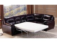 Nomec: С2003: диван угловой  (кожа 9219, коричневый)