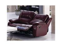 Nomec: ЕА42: диван 2-х местный  с реклайнером (кожа 9219, коричневый)