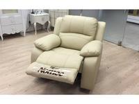 Nomec: ЕА42: кресло  с реклайнером (кожа 9204, беж)
