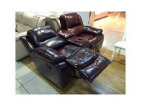 Nomec: ЕА42: кресло-реклайнер  двойка с реклайнером (коричневый)