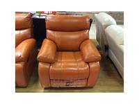 Nomec: ЕА102: кресло-реклайнер-качалка  (кожа 9209, черный)