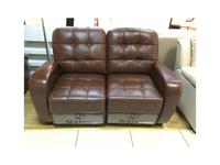 Nomec: K603: диван 2-х местный  реклайнер (коричневый)