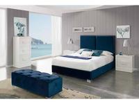 Dupen: Andrea: кровать двуспальная  160х200 (ткань)