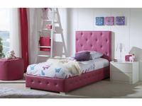 Dupen: Raquel: кровать односпальная  90х200 (экокожа)