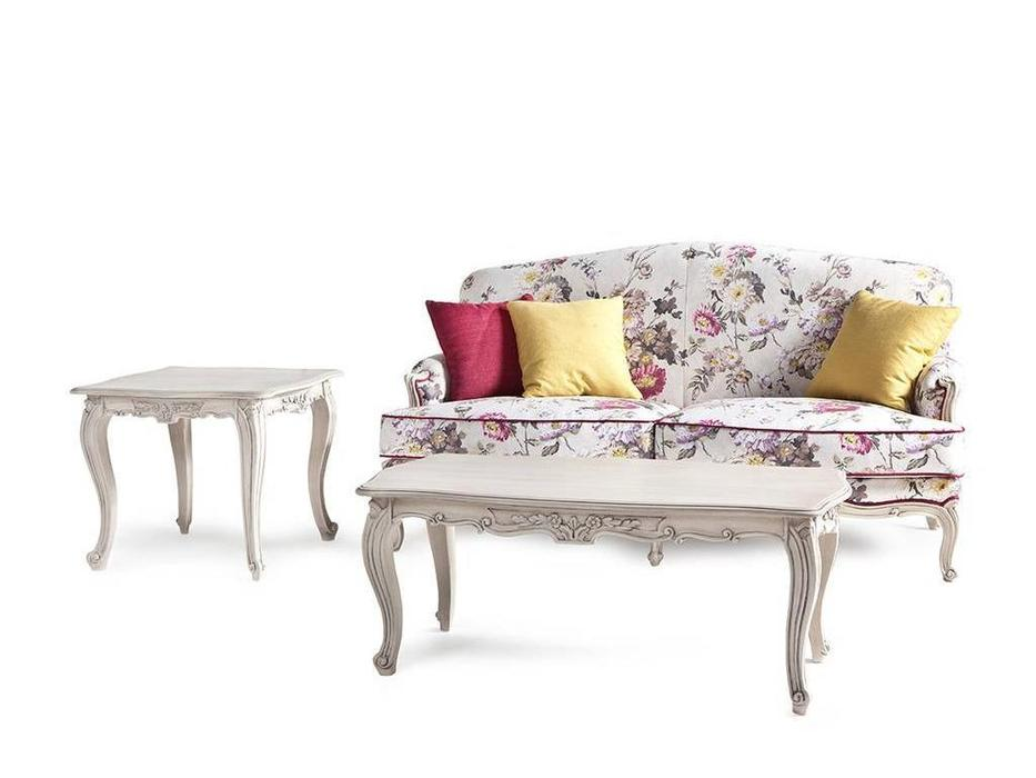 Exedra: Camelia: диван 2-м (ткань, белый)
