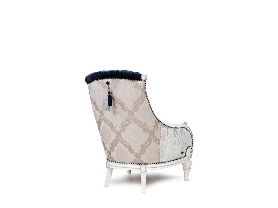 Exedra: Chiocciola: кресло (ткань, белый с серебром)