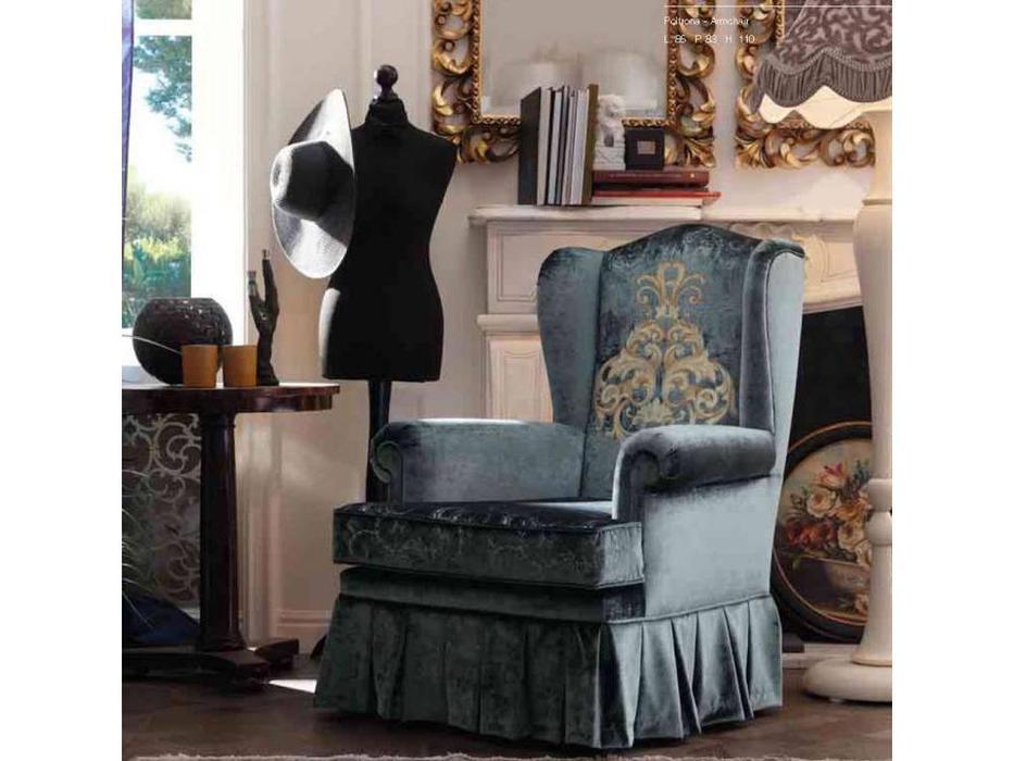 GiorgioCasa: Giulietta e Romeo: кресло Art. S301 ткань Cat. A