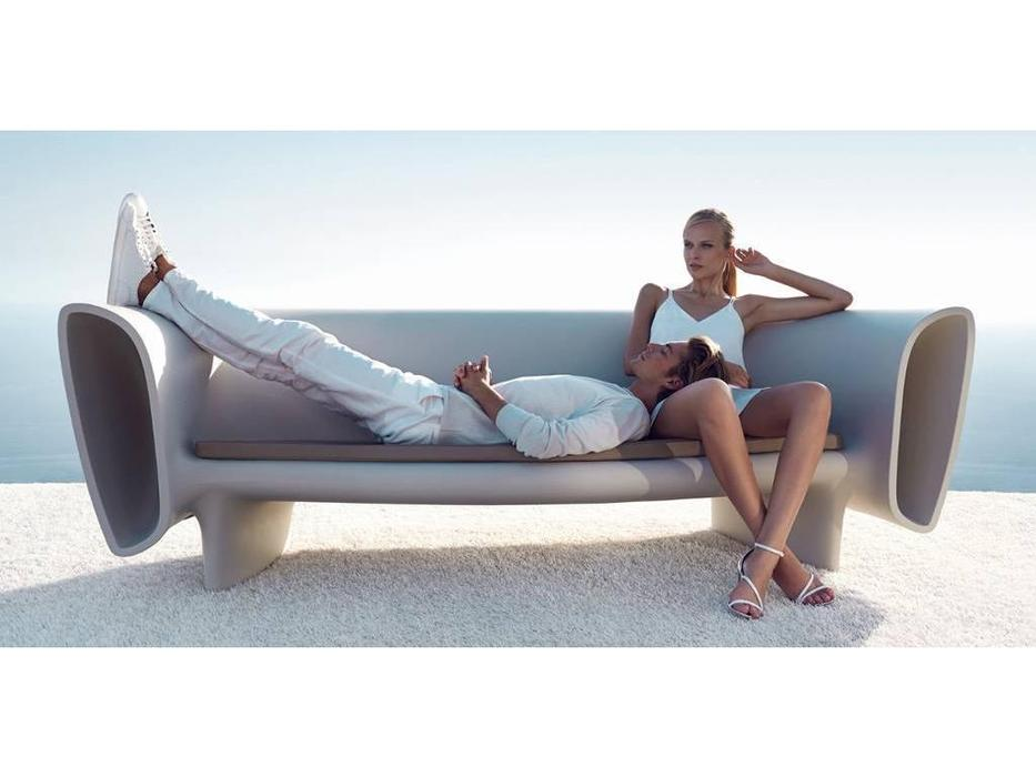 Vondom: Bum Bum: диван 3-м  (белый Basic)