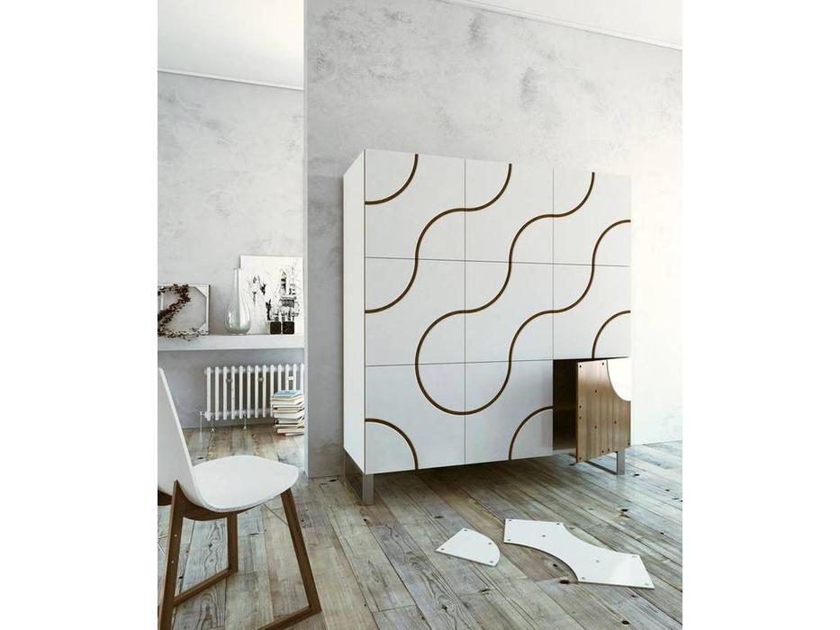 Horm: Infinity: витрина 3-х дверная  (bianco)