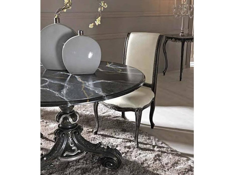 Cafissi: Bellosguardo: стул  Gruppo II (черный с серебром) экокожа