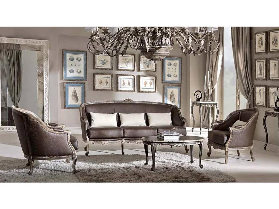 Cafissi: Bellosguardo: диван   Gruppo III (орех с серебром) экокожа