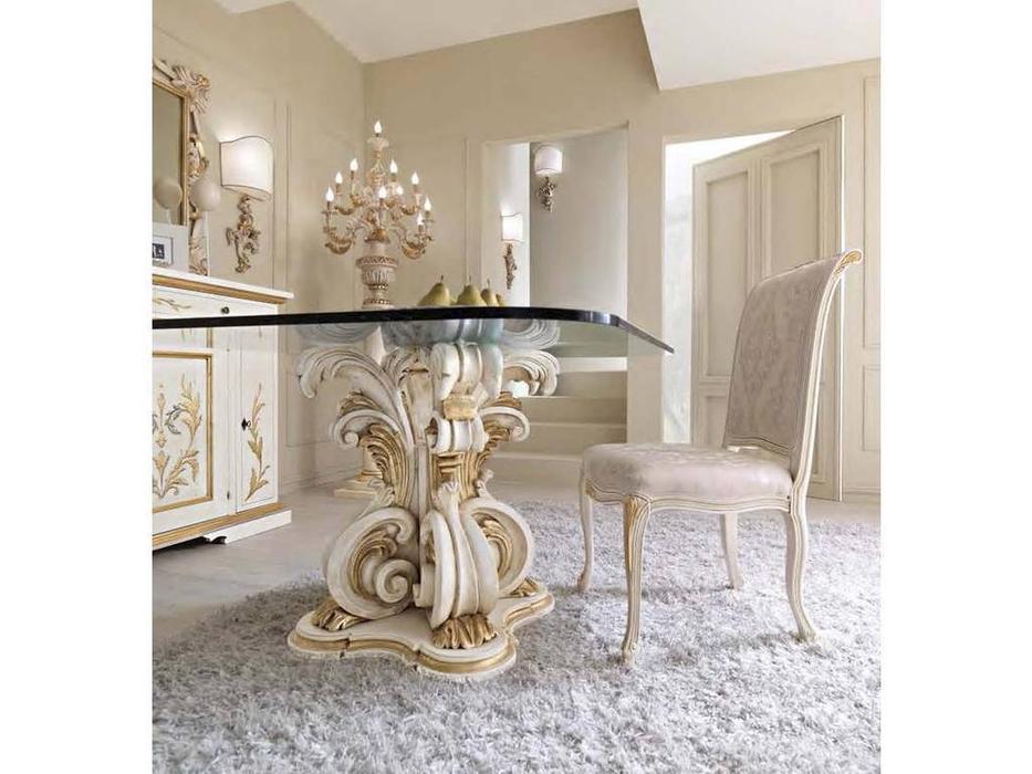 Cafissi: Bellosguardo: стул  Gruppo III (белый с золотом) ткань