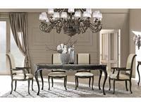 Cafissi: Bellosguardo: стол обеденный  Gruppo II (черный с серебром)