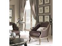 Cafissi: Bellosguardo: кресло  Gruppo III (орех с серебром) экокожа