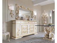 Cafissi: Bellosguardo: комод 4 дверный   Gruppo III (белый с золотом)