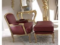 Cafissi: Bellosguardo: кресло  Gruppo III (орех, золото) экокожа