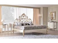 Cafissi: Bellosguardo: кровать 180х200  Gruppo II (белый, золото)