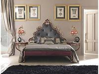 Cafissi: Bellosguardo: кровать 180х200  Gruppo II (красный, золото) экокожа