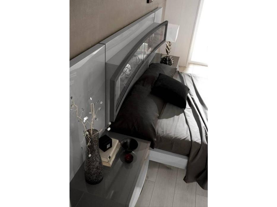 Fenicia Mobiliario: Fenicia: кровать 160х200 с тумбами  (серый)