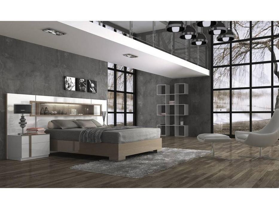 Fenicia Mobiliario: Fenicia: кровать 160х200 с тумбами  (белый, шоколад)
