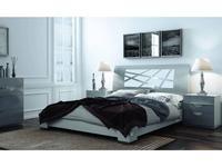 Fenicia Mobiliario: Fenicia: кровать 160х200 с тумбами  (светло-серый)