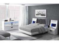 Fenicia Mobiliario: Fenicia: кровать 160х200 с тумбами  (белый, эбонит)