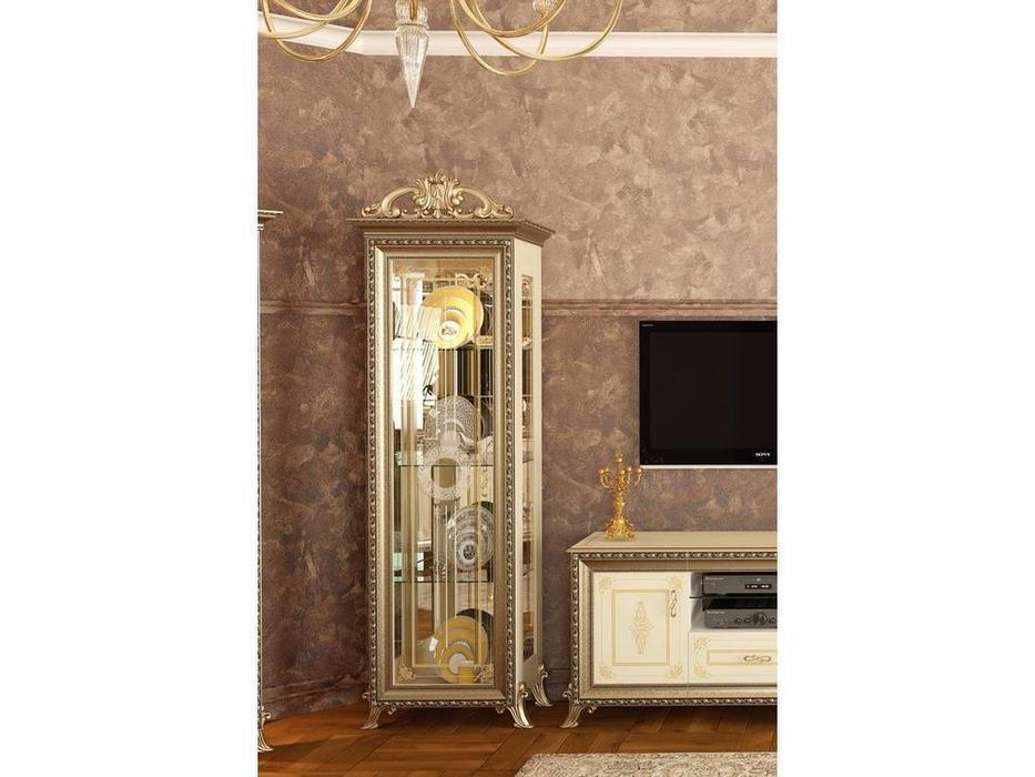 Мэри: Версаль: витрина 1 дверная  (слоновая кость)