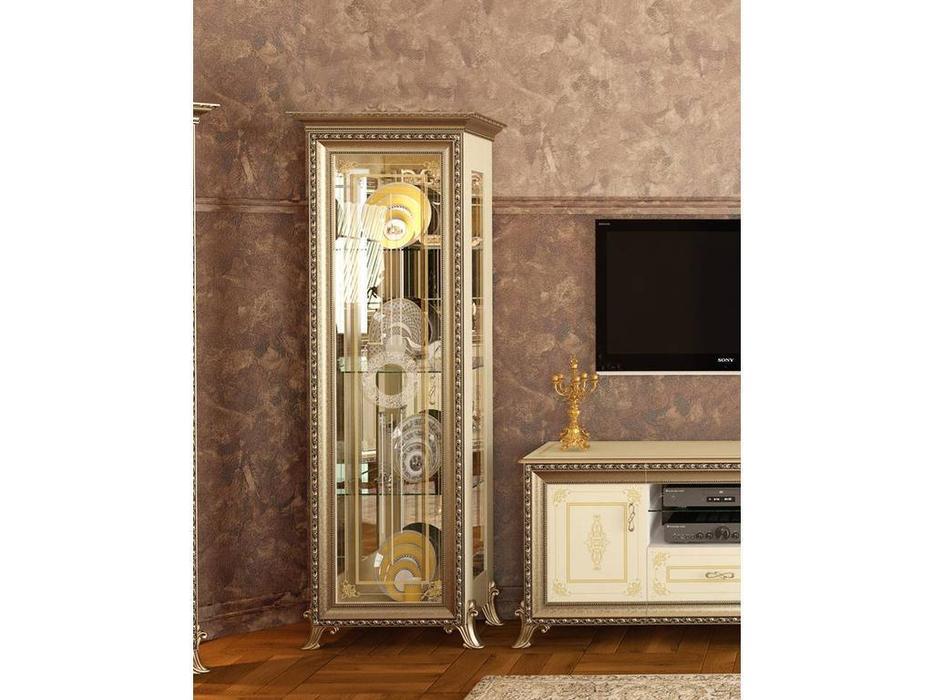 Мэри: Версаль: витрина 1 дверная  без короны (слоновая кость)