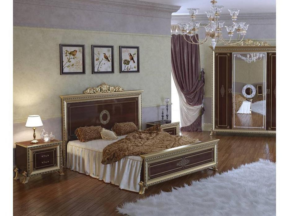 Мэри: Версаль: кровать 160х200  (орех)