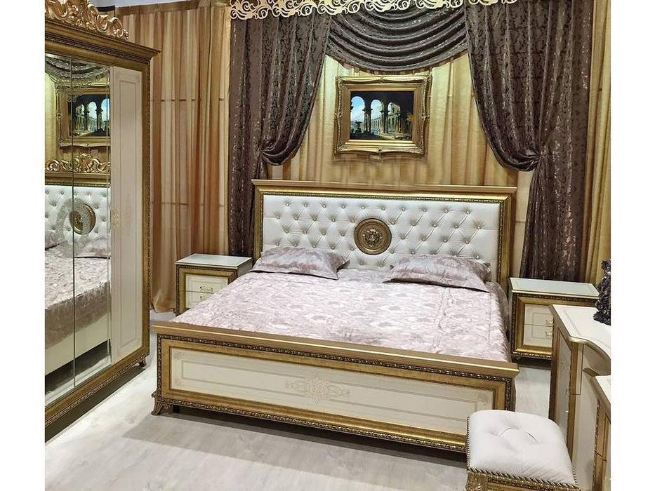 Мэри: Версаль: кровать 180х200 с мягким изголовьем  (слоновая кость)