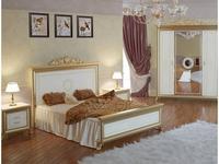 Мэри: Версаль: кровать 160х200  с короной на изголовье (слоновая кость)