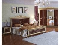 Мэри: Версаль: кровать 180х200  с короной на изголовье (орех)