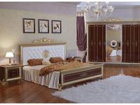 Мэри: Версаль: кровать 180х200 с мягким изголовьем с короной  (орех)