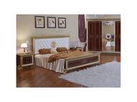 Мэри: Версаль: кровать 180х200 с мягким изголовьем  (орех)