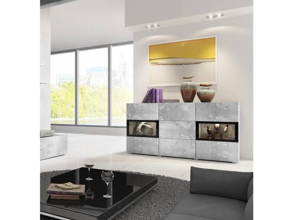 Helvetia: Baros: комод  (бетон, серый)