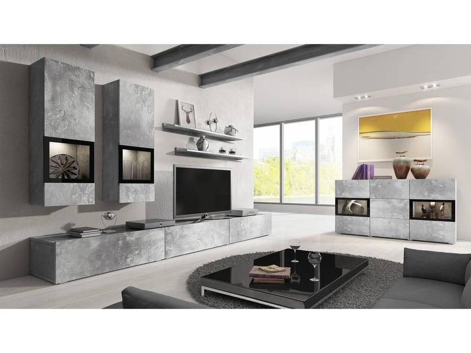 Helvetia: Baros: гостиная  (бетон, серый)