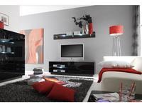 Helvetia: Togo: тумба под телевизор  (венге, стекло черное)