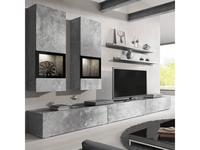 Helvetia: Baros: стенка в гостиную  (бетон, серый)