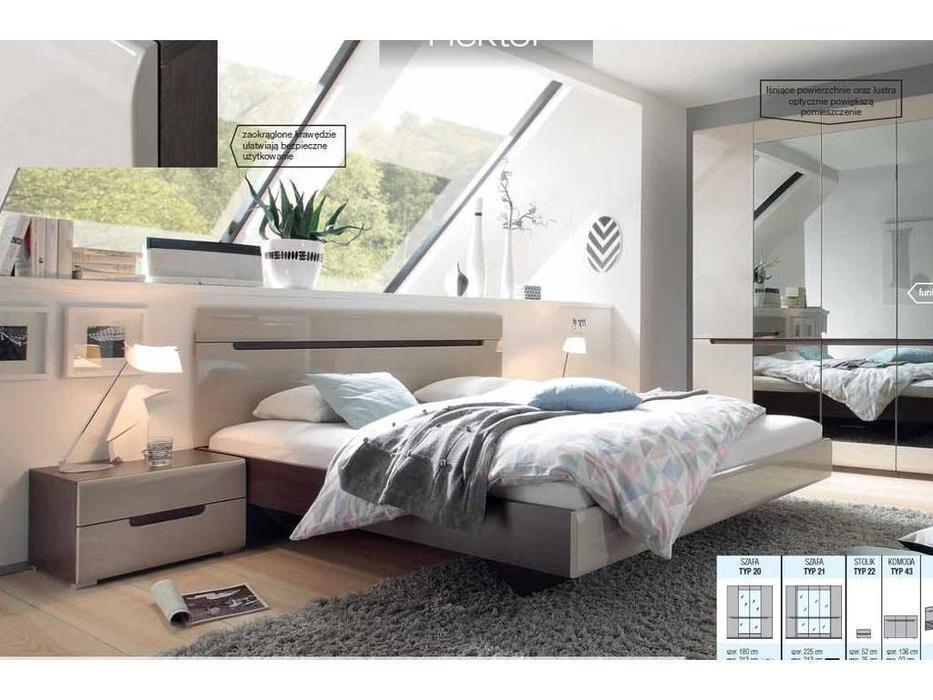 Helvetia: Hektor: кровать 180х200  (капучино)
