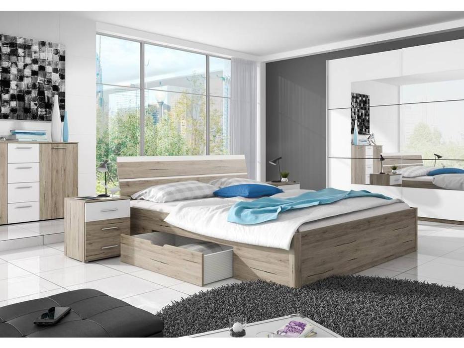 Helvetia: Beta: кровать 180х200  (дуб сан ремо)