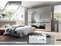 Helvetia: Hektor: шкаф 4-х дверный  графитовые зеркала (капучино)