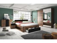Helvetia: Beta: спальная комната с 2-х дверным шкафом-купе (дуб монастырский)