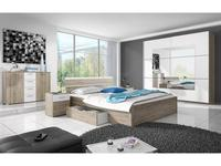 Helvetia: Beta: спальная комната с 2-х дверным шкафом-купе (дуб сан ремо)