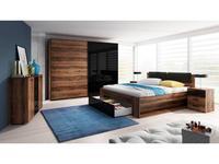 Helvetia: Galaxy: спальная комната со шкафом (орех, черный)