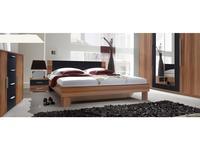 Helvetia: Vera: кровать 180х200 с 2 тумбами  (орех красный)
