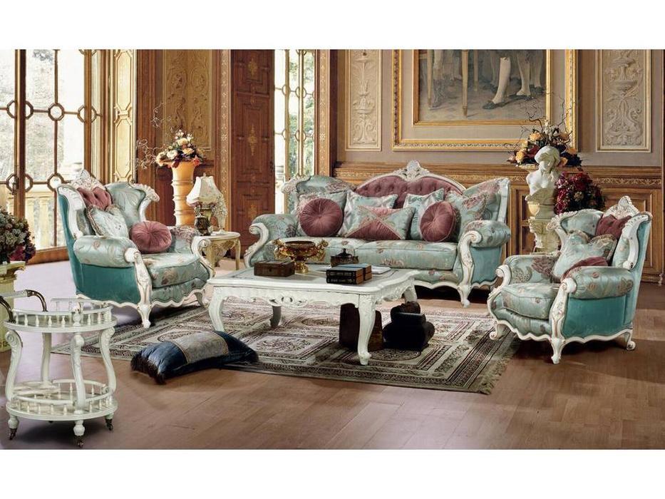 Fanbel: Лино: комплект мягкой мебели  (белый, ткань)