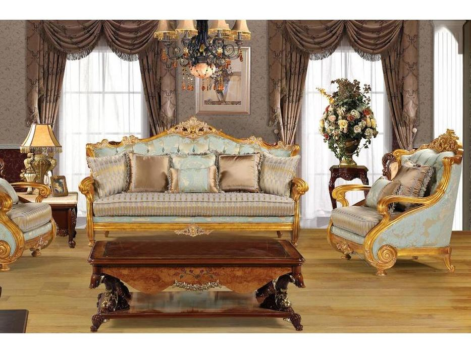 Fanbel: Альба: диван 3-х местный  (золото, ткань)