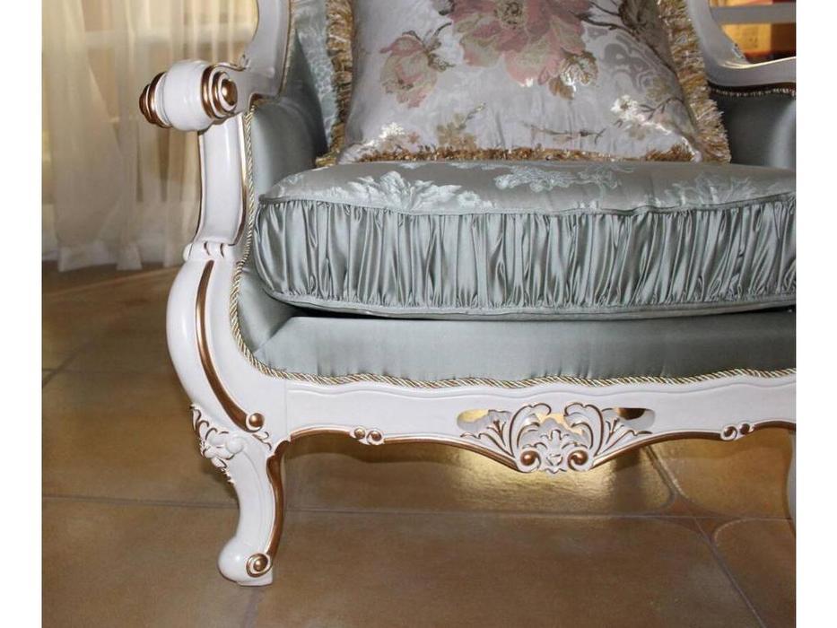 Fanbel: Зевс: диван 3-х местный  (белый, ткань)
